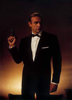 Sean Connery, as James Bond, in a bow tie. Sean Connery James Bond, Saint Yves, Bond Girls, Casino Royale, James Bond Style, Timothy Dalton, James Bond Movies, Pierce Brosnan, Roger Moore