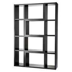 Room Essentials Large 2pc Modular Room Divider and Bookcase  - Black.Opens in a new window