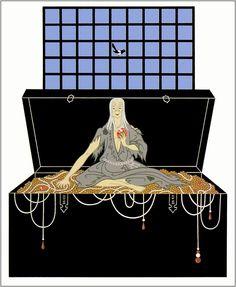 Romain de Tirtoff (Erte) – The Seven Deadly Sins: Avarice Sloth Deadly Sin, Seven Deadly Sins, Art Nouveau, Erte Art, Romain De Tirtoff, Art Deco Artists, Art Vintage, French Vintage, Vintage Posters