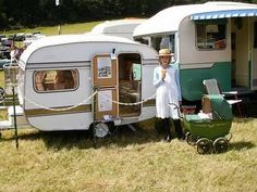 Every little girls dream to have her own mini vintage trailer!
