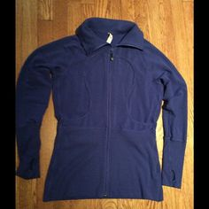 Lululemon zip jacket Sz 10l blue w/thumb holes Royal blue zip jacket Size 10 with thumb holes and deep front pockets.  No trades. Reasonable counters considered.  Thank you. lululemon athletica Tops Sweatshirts & Hoodies