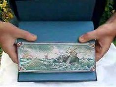 A fore-edge painting is where the page block is fanned and an image applied to the stepped surface. If the page edges are themselves gilded or marbled, this results… Cool Books, I Love Books, Up Book, Book Art, Hidden Art, Hidden Book, Design Editorial, Book Repair, How To Write Calligraphy