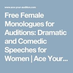 11 Best monologues images in 2017 | Monologues, Female