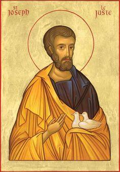 Joseph the Just Sacred Heart Tattoos, Fortune Cards, Religious Icons, Holy Family, Orthodox Icons, St Joseph, Sacred Art, Ikon, Catholic