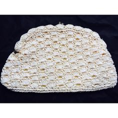 """Vintage clutch Vintage Rafia-like woven clutch in cream with light yellow lining. Gold clasp closure. Made in Japan. 14"""" x 8"""" x 0.5"""". Excellent vintage condition. No visible flaws. Possibly never used. Bags Clutches & Wristlets"""