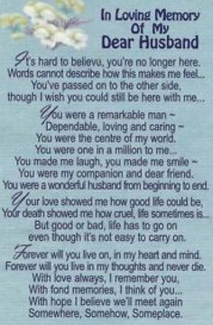 Funeral verses for husband