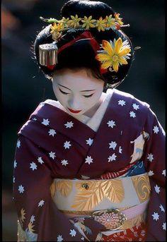 Maiko 舞妓 ~~ For more:  - ✯ http://www.pinterest.com/PinFantasy/moda-~-elegancia-oriental-oriental-elegance/