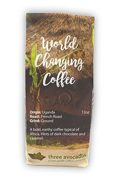 Three Avocados Uganda Bugisu Ground Coffee  12oz  100 of Profits Provide Clean Water -- See this great product. (This is an affiliate link and I receive a commission for the sales)