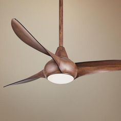"52"" Minka Aire Light Wave Distressed Koa Ceiling Fan -  Lamps Plus $279.95  free shipping and returns"