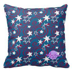 #zazzle #pillow #stars #blue #art