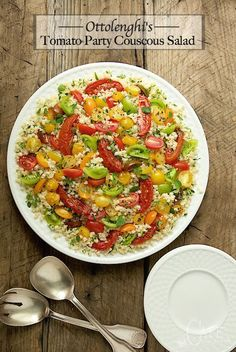 Ottolenghi's Tomato Party Couscous Salad - Quintessentially summer, this salad is delicious, healthy and make-ahead. It's perfect for parties and picnics.