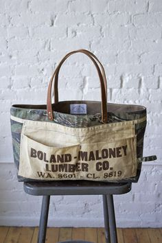 1960's era Camo & Work Apron Carryall