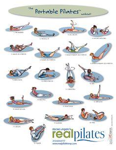 mat pilates exercise chart | Portable Pilates chart via Real Pilates.com