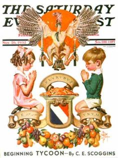 1932-11-26: Thanksgiving Crest (J.C. Leyendecker)