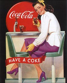 50s Coke ad Why can't coke be healthy?! Love the stuff!