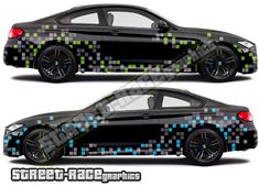 digital camouflage cut vinyl graphics shown on a BMW car Car Stickers, Car Decals, Toyota Fj Cruiser, Digital Camo, Bmw M4, Car Wrap, Camouflage, Wraps, Racing