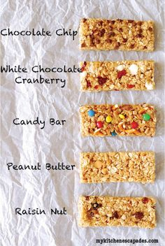 Check out these 5 homemade granola bars that your little ones are sure to love! Make them with all their favorite nuts, fruits, and chocolates.