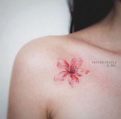 coolTop Geometric Tattoo - Cherry Blossom Tattoo Designs And Meanings cool Check more at fabulousdesi. Sexy Tattoos, Body Art Tattoos, Tattoos For Women, Cool Tattoos, Tattos, Tatoo Sakura, Piercing Tattoo, Piercings, Aquarell Tattoo