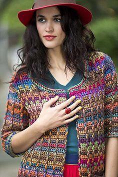 Ravelry: Colorfully Modern Cardigan pattern by Lion Brand Yarn