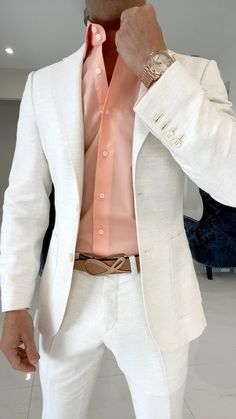 White Suits For Men, Trendy Suits For Men, Dress Suits For Men, Men Dress, Men Casual, High Fashion Men, Mens Fashion Suits, Mens Suits, Men's Fashion