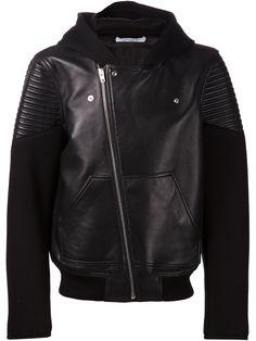 Givenchy Leather Bomber Jacket - O' - Farfetch.com