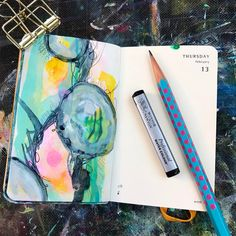 Today's prompt is #wander ✨ I decided to wander through a color pallet I don't typically use and Make wandering lines and marks along the way. I am kind of liking the pastels. 💖 It's not too late to jump in on the fun! Check out #drawriotdaily and see all of the creative posts! February Prompts are now available on www.drawriot.com 🗓🌟Day 43 of 365 . . #moleskine #instadaily #drawingoftheday #art #drawing #illustration #mixedmedia #arthabit #picoftheday #dailysketch #dailyart #artaddict…