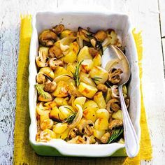 Recept - Aardappel uit de oven - Ipv verse knoflook, knoflookzout toevoegen.