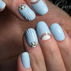 Rate on a scale from 1 to 10 ————————————– # angels # angels # angels, angelic gradient slider design nailstrends. Fancy Nails, Cute Nails, Pretty Nails, Aqua Nails, Gel Nails, Bio Sculpture Nails, Cute Nail Art Designs, Nagellack Trends, Manicure Y Pedicure
