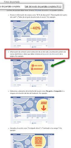 Portada de una fanpage en Facebook #redessociales #communitymanager  http://facepyme.blogspot.com.es/2013/01/portada-de-una-fanpage-en-facebook.html
