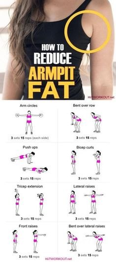 How to Get Rid of Armpit Fat Fast Healthy Society. armpit fat workout armpit fat workout no equipment armpit fat exercises armpit fat workout arm pits armpit fat workout double chin Armpit Fat Solutions by alexandria Sport Fitness, Body Fitness, Fitness Tips, Fitness Models, Fitness Motivation, Health Fitness, Fitness Shirts, Fitness Exercises, Aerobic Exercises