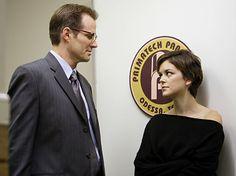 "Heroes - ""Fallout"" - Jack Coleman as H.R.G., Eden McCain as Nora Zehetner | Paul Drinkwater/NBC Photo"