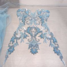 Bead Embroidery Tutorial, Bead Embroidery Patterns, Lace Patterns, Hand Embroidery Designs, Sewing Patterns, Tambour Beading, Tambour Embroidery, Couture Embroidery, Embroidery Fashion