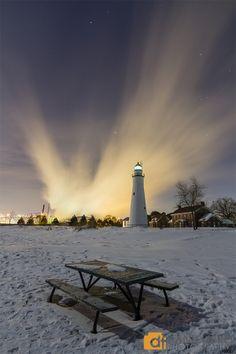 lighthouseof Fort Gratiot in Port Huron, Michigan by Daniel Frei