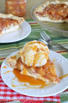 Cheesecake Apple Pie - cheesecake topped with a homemade apple pie filling