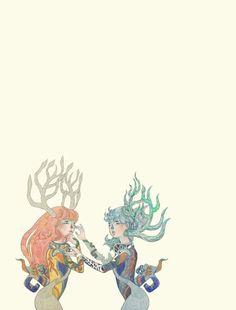 #켡 #hyunz #illust #illustration #그림 #illustrator #drawing #켠지 #artist #art #visualart #일러스트레이터 #작가 #twins #girl #artwork #siamese #ego