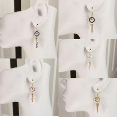 https://www.ebay.com/itm/182351044463 Choice of Artisan Handcrafted Modern Spike Dangle Earrings