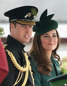 MYROYALS &HOLLYWOOD FASHİON - Prince William and Catherine, Duchess of Cambridge  attended the  St Patrick's Day Parade at Mons Barracks in Aldershot.