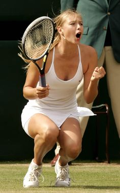 Maria Sharapova makes the point and feels it