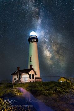 Milky Way over Pigeon Point #Lighthouse in #California Image… - http://dennisharper.lnf.com/