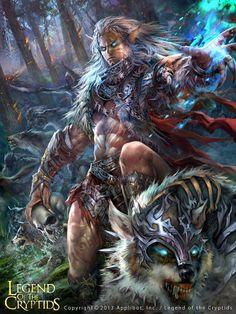 Artist: Feng Guo aka georgeguo - Title: adv - Card: Unknown, Legend of the Cryptids Fantasy Art Men, Fantasy Warrior, Fantasy Rpg, Medieval Fantasy, Fantasy World, Dark Fantasy, Fantasy Inspiration, Character Design Inspiration, Writing Inspiration