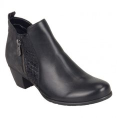 Womens ankle boots in black color. Zipper on the side for easier apply, soft removable insole and rubber non-slip sole. In large sizes from Remonte. Ankle Boots, Booty, Zipper, Black, Fashion, Ankle Booties, Moda, Swag, Black People