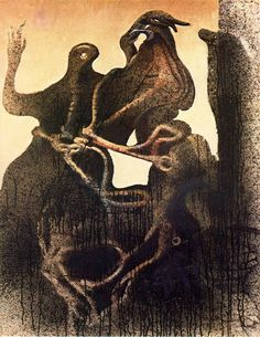 Max Ernst, La pareja zoomorfa