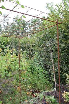 S\'aménager un espace pour plantes grimpantes avec du fer à béton et ...