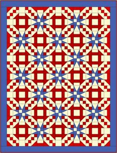 """Churn Dash & Stars Quilt Pattern - I really love this one and it's on my """"To-Make-for-Myself"""" list"""