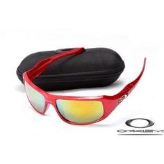Oakley c six sunglasses with red metallic frame/fire iridium lens