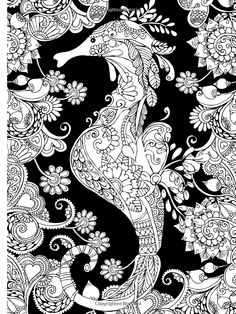 Creative Haven Magical Mehndi Designs Coloring Book Striking Patterns On A Dramatic Black Background