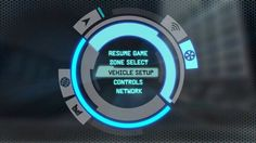 Unpublished Sci Fi racing UI. Car designs by Scott Robertson.