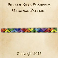 Rainbow Diamonds Seed Bead Pattern Loom Cuff Bracelet PDF File Beaded Beadweaving Weaving Native American Tribal Immediate Download