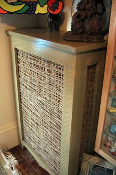 love this unique look for a radiator cover
