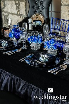 Royal Blue Wedding. Mercury Glass Holder with Bubble Emboss, Item 9248  {#lookbook, #wedding, #blue, royal, princess}
